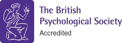 The British Psychological Society logo, showing that the university is accredited by them