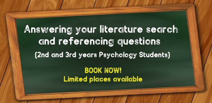 Answering your literature search and referencing questions, book now.
