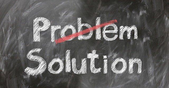 problem solution on a blackboard