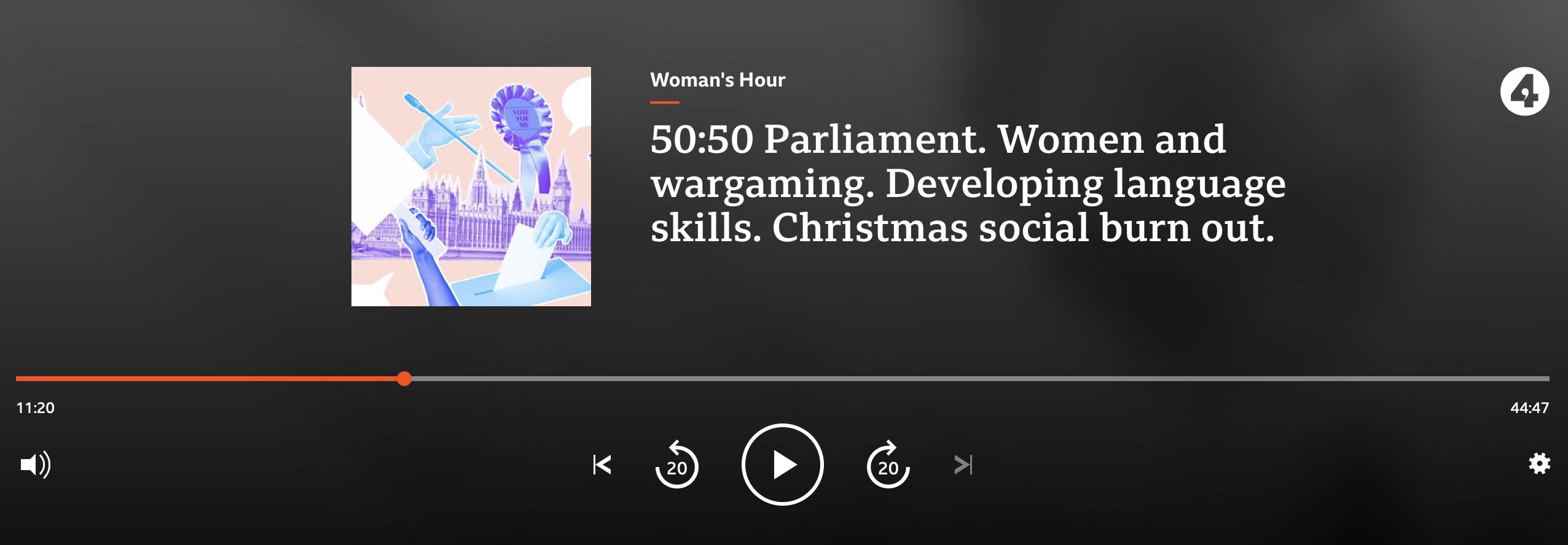 Woman's Hour sound player screenshot