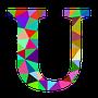 colourful U