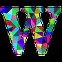 colourful W