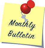 Monthly Bulletin in a post it note