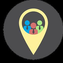 icon with three people - illustration