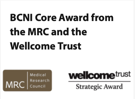 BCNI CORE award from the MRC and the Wellcome Trust