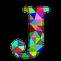 colourful J