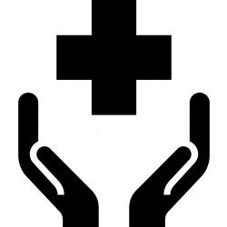 hands holding the cross