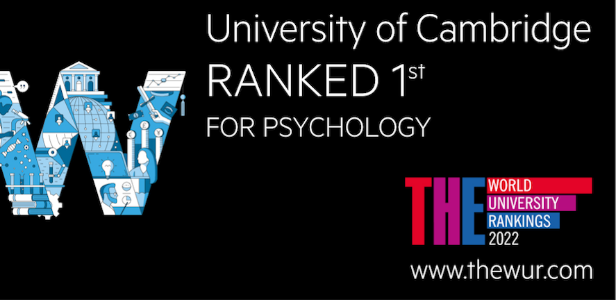 Psychology in Cambridge is number 1 on the THE ranking